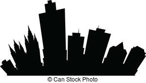 300x170 Cartoon Buffalo City Skyline. Cartoon Skyline Silhouette