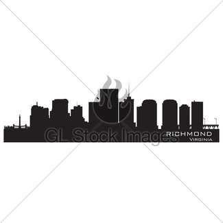 325x325 Oklahoma City Skyline. Detailed Silhouette Gl Stock Images