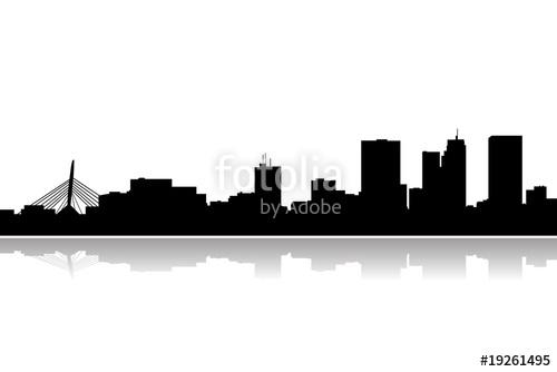 500x334 Buffalo City Skyline Vector Stock Image And Royalty Free Vector
