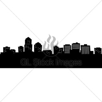 325x325 Albuquerque, New Mexico Skyline. Detailed Silhouette. Gl Stock