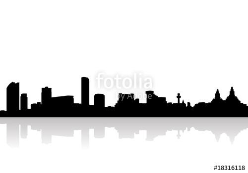 500x350 Liverpool Skyline Vector Stock Image And Royalty Free Vector