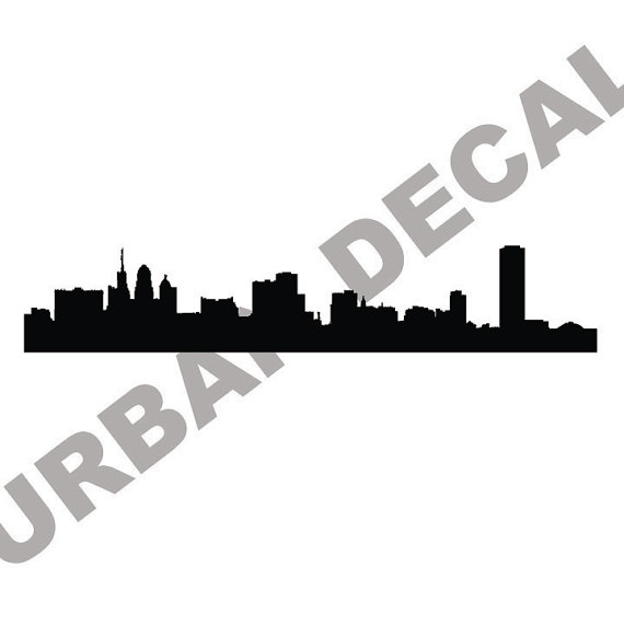 570x570 Buffalo Skyline Wall Decal Vinyl Sticker New York