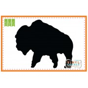 179x179 Applique Corner Buffalo Silhouette Cuttable Svg Clipart Design