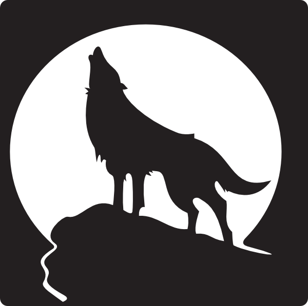 600x597 Free Clip Art Wolves Howling Wolf Clip Art