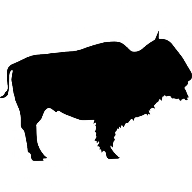 626x626 Buffalo Wild Beast Silhouette Icons Free Download