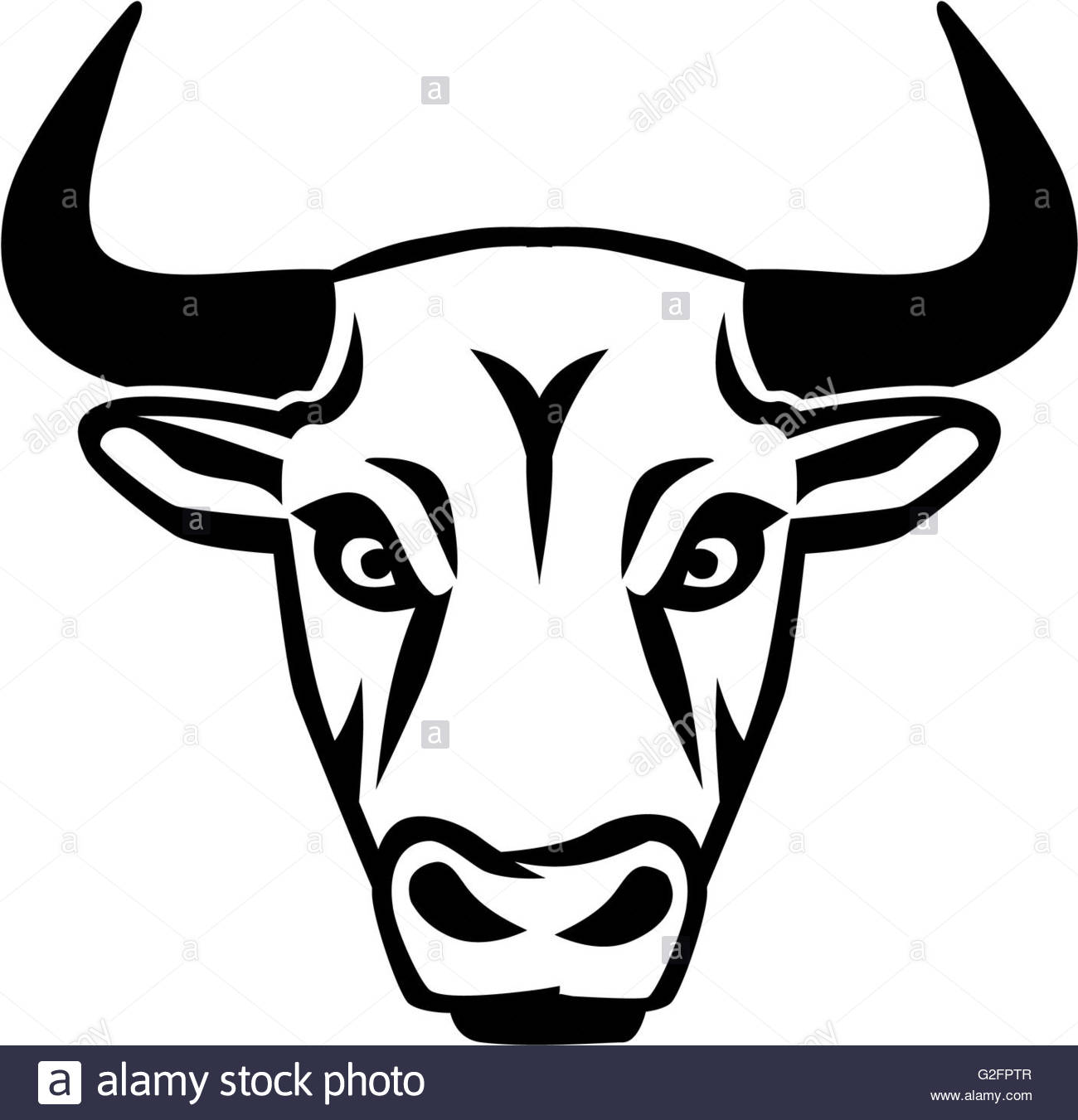 1300x1351 Silhouette Bull Head Stock Photo 104838743