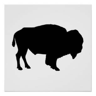 307x307 Bison Silhouette Gifts On Zazzle