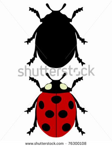 360x470 119 Ladybug Silhouette Tiny Clipart