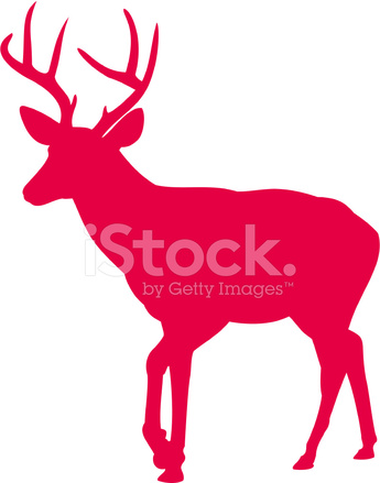 345x439 Elk Deer Silhueta Stock Vector