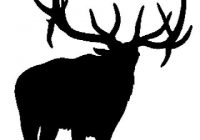200x140 Fresh Elk Silhouette Clip Art Bugling Elk Big Game Decal