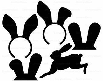 340x270 Rabbit Vector Etsy
