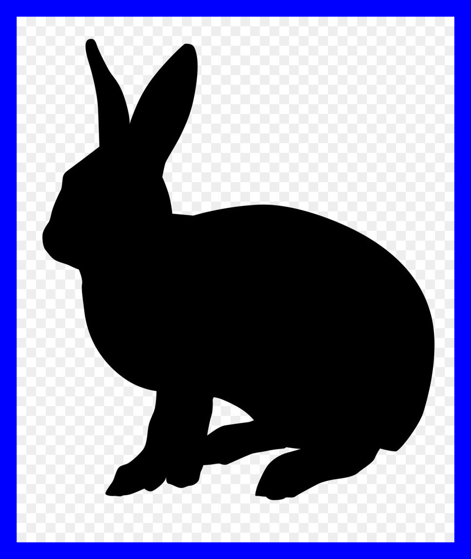 968x1148 The Best Vector Pict For Rabbit Silhouette Style And Inspiration