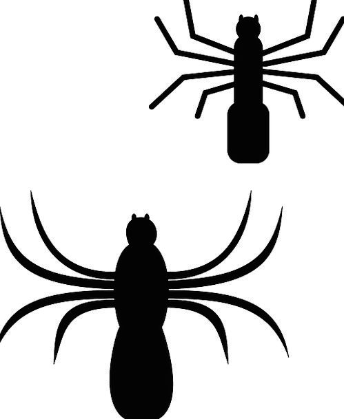 499x609 Spider, Outline, Bugs, Germs, Silhouette, Insect, Bug, Spooky