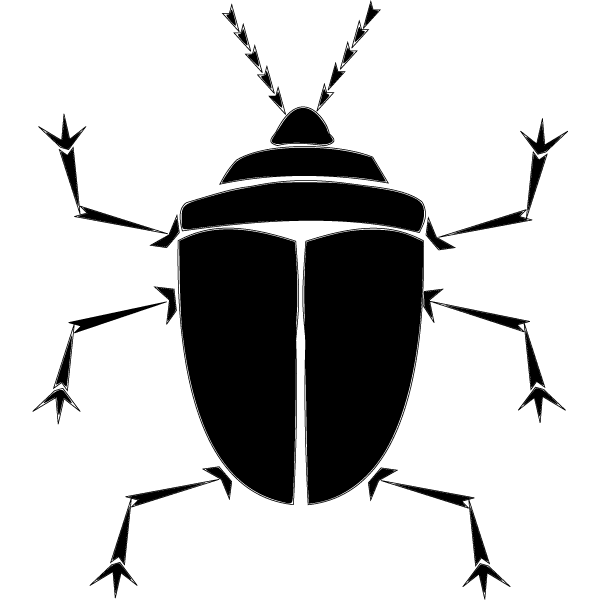 600x600 Bug Silhouette Vector Free, Vector Graphic