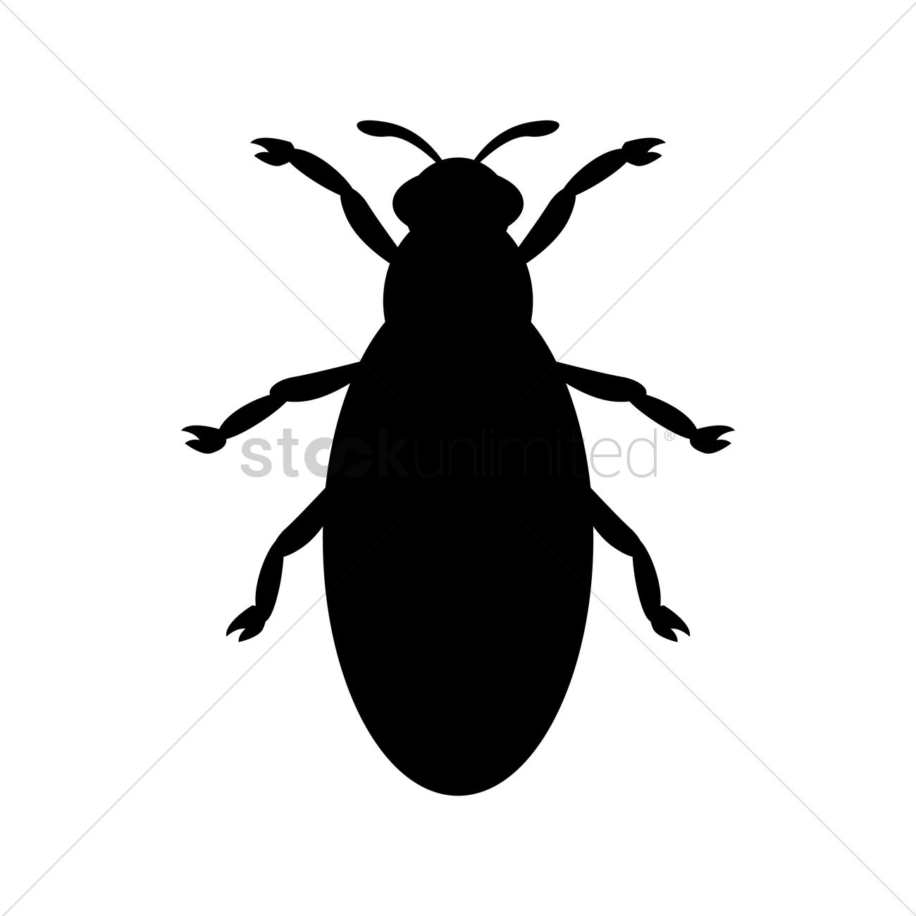 1300x1300 Bug Silhouette Vector Image