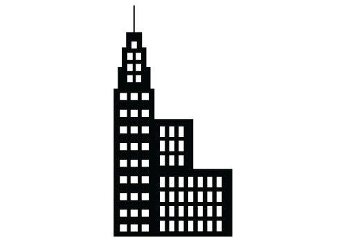 500x350 Free Building Silhouette Vector Clipart