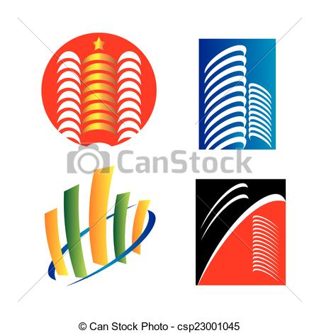 450x470 Building Silhouettes Eps Vector