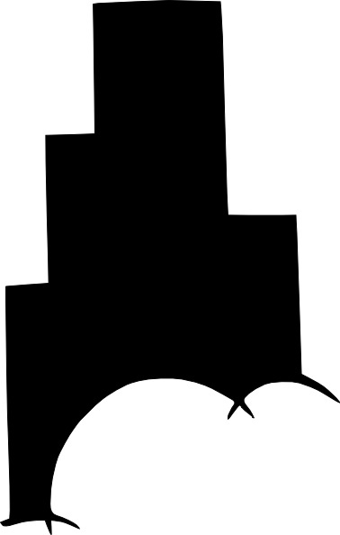 378x594 High Rise Building Silhouette Clip Art Free Vector In Open Office