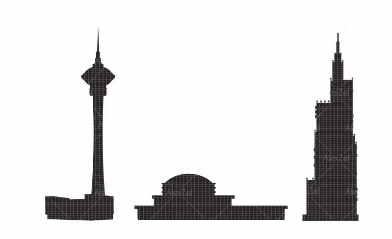 799x488 City Silhouette, Urban Skyline Clipart, Infographic Clip Art