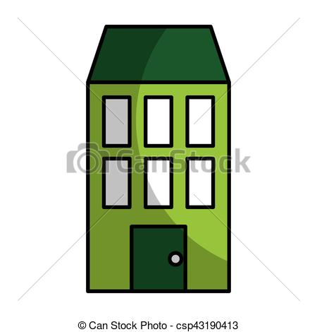 450x470 Building Silhouette Isolated Icon Vector Illustration Design