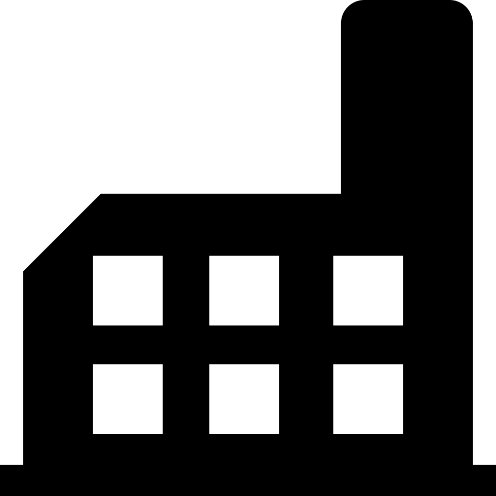 980x980 Factory Building Silhouette Svg Png Icon Free Download ( 66812