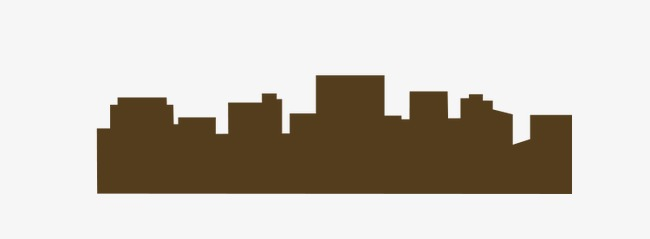 650x239 Brown Building Silhouette, Brown, Building, Sketch Png Image
