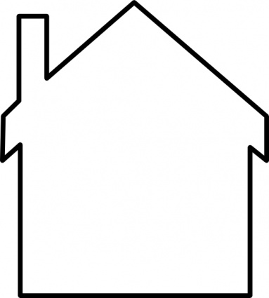 383x425 House Silhouette Clip Art Vector, Free Vector Graphics