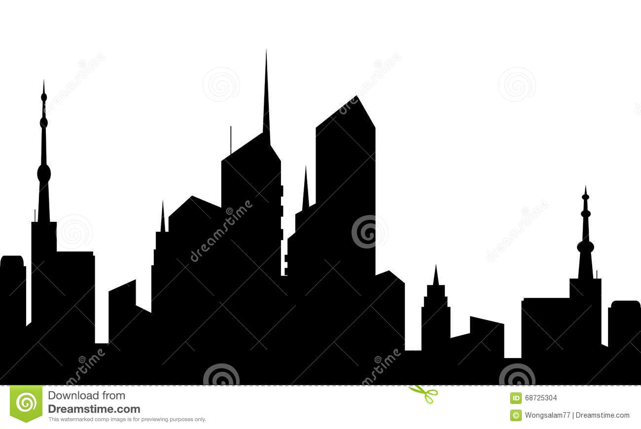 1300x870 Old Town Clipart Silhouette