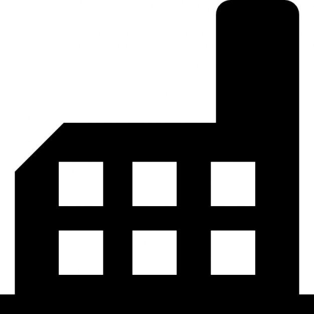 626x626 Factory Building Silhouette Icons Free Download
