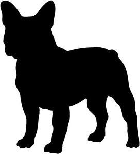 272x300 French Bulldog Silhouette Sticker, Vinyl Decal, Dog, Puppy 245mm X