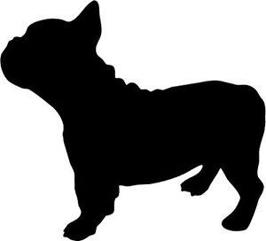 300x272 French Bulldog Silhouette Vinyl Sticker Animal Dog Pet Themed