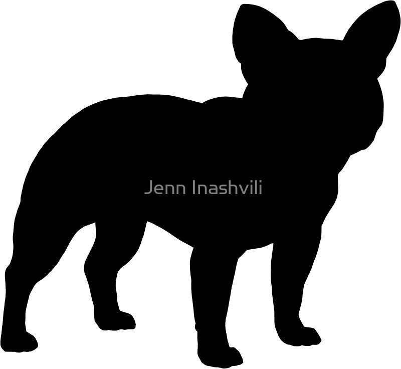 800x736 French Bulldog Silhouette(S) Stickers By Jenn Inashvili Redbubble