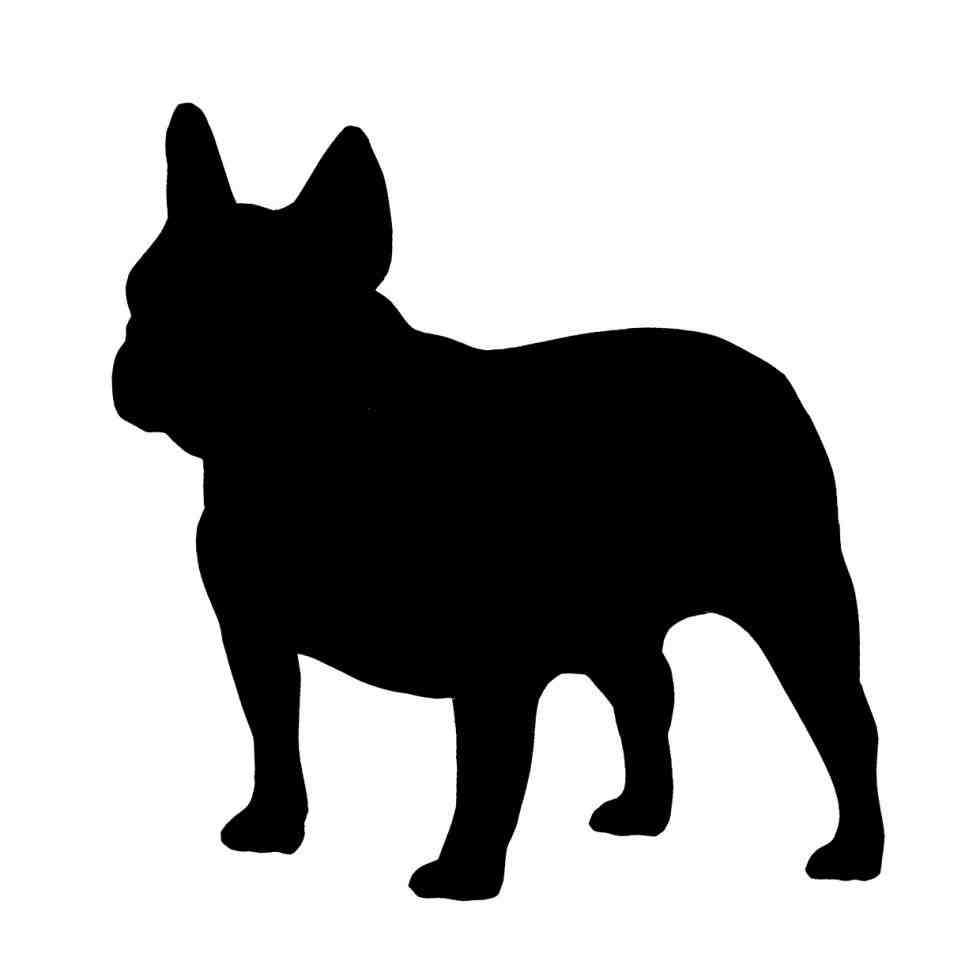 980x980 French Bulldog Silhouette Vector Animalsee.club
