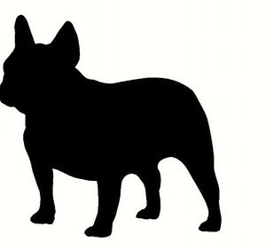 300x282 French Bulldog, Wall Sticker Decal, Silhouette. Great Gift For Dog