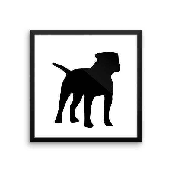 570x570 American Bulldog Silhouette Digital Download, Dog Silhouette
