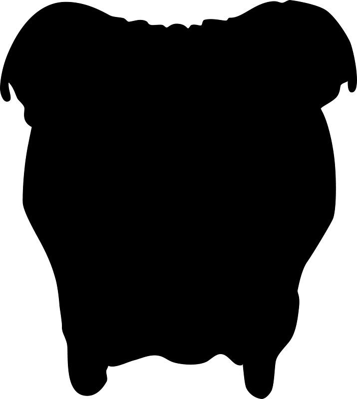 715x800 Bulldog Silhouette