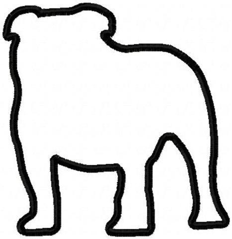 467x480 Bulldog Silhouette Bulldogs Silhouettes, Cricut