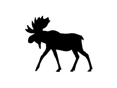 400x300 Download Vector About Moose Silhouette Item 2 , Vector