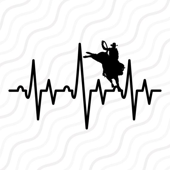 570x570 Bull Rider Heartbeat Svg Bull Rider Svg Rider Svg Cut Table