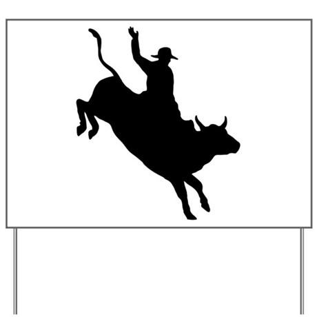 460x460 Bull Riding Yard Signs