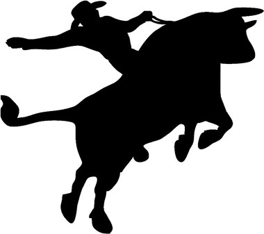 380x337 Bull Rider Decal (Rodeo)