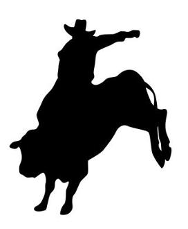 272x330 Bull Rider Silhouette 2 Decal Sticker