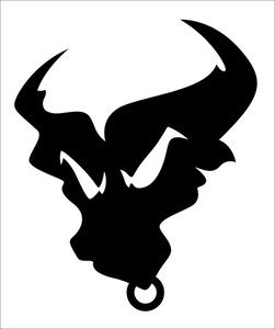 251x300 Angry Bull Silhouette Mascot Tatto Vector Royalty Free Stock Image