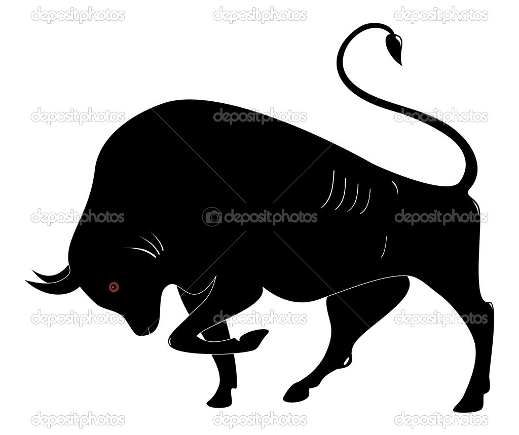 1024x859 Black Bull Silhouette Vector Free Download