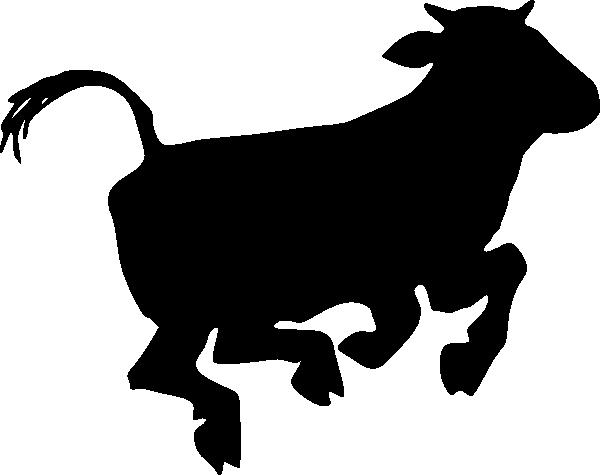 600x475 Cow Clipart Stencil