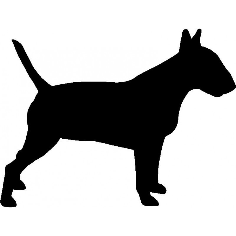 800x800 Dog Breed Silhouette Wall Hanging Magnetic Memo Bull Terrier
