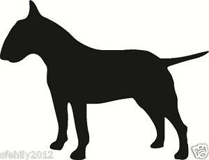 300x230 English Bull Terrier , Car, Van Sticker, Silhouette. Great Gift