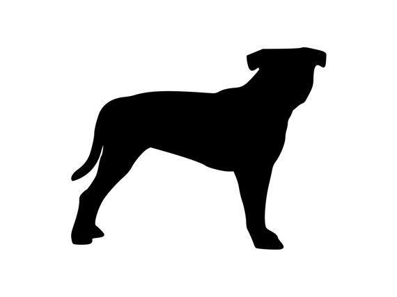 570x427 Pitt Bull Terrier Dog Pibble Outdoor Vinyl Silhouette K9