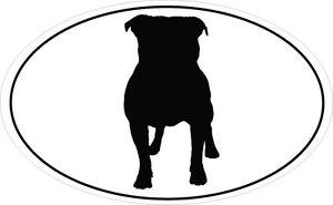 300x185 Staffordshire Bull Terrier Silhouette In An Oval Shape Sticker