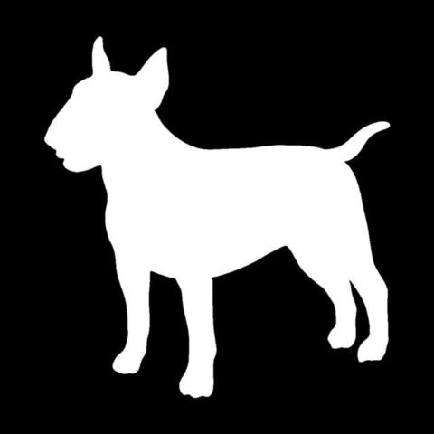 480x480 Simple Bull Terrier Silhouette Side Angle Sticker (5 X 4.8